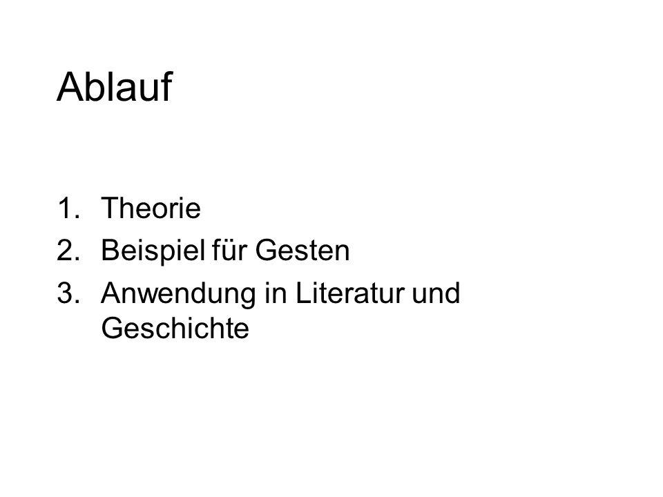 Ablauf 1.Theorie 2.Beispiel für Gesten 3.Anwendung in Literatur und Geschichte