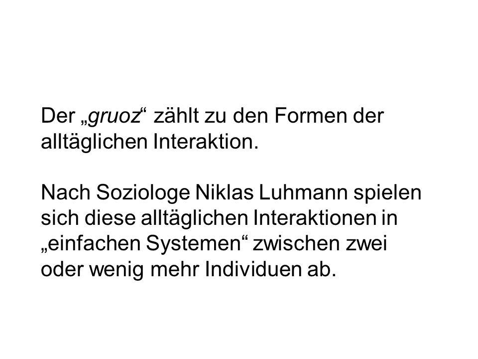 Der gruoz Burkhard Krause: Zur Problematik sprachlichen Handelns: dergruoz als Handlungselement.