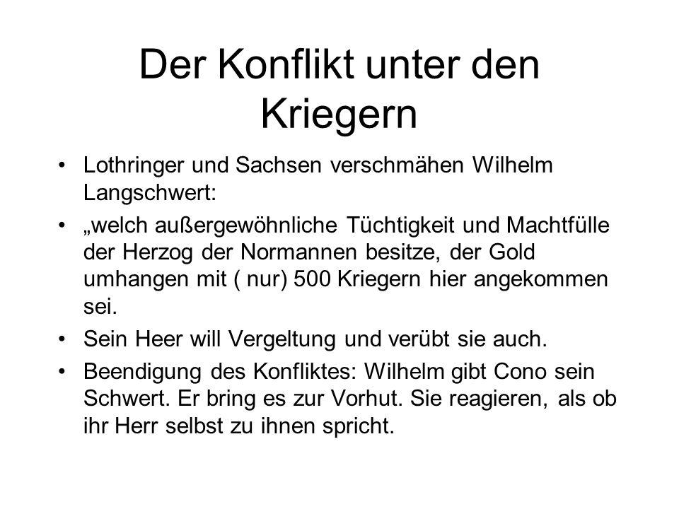 Wirkung von Macht in der Öffentlichkeit Beispiel: Herrschertreffen von 942 in Vize in Dudos Werk. Zusammentreffen zwischen Ludwig IV. und Otto I. durc