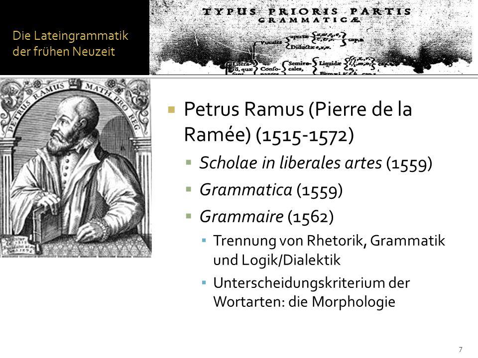 Die Grammatik von Port-Royal Philosophiegeschichtliche Einordnung Einfluss des Rationalismus auf das Studium der Sprache.