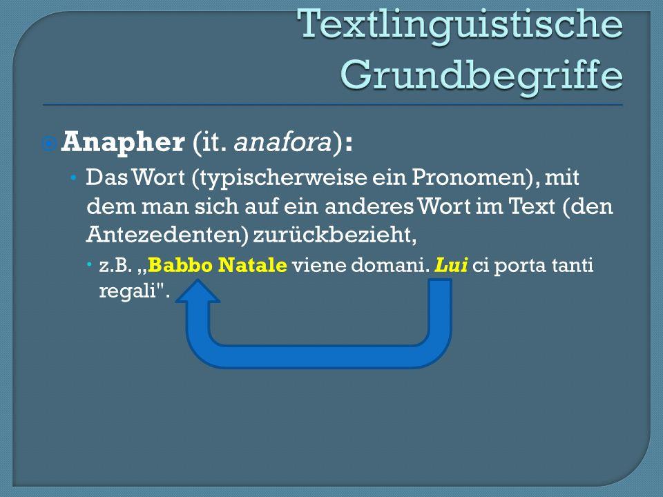 Anapher (it.
