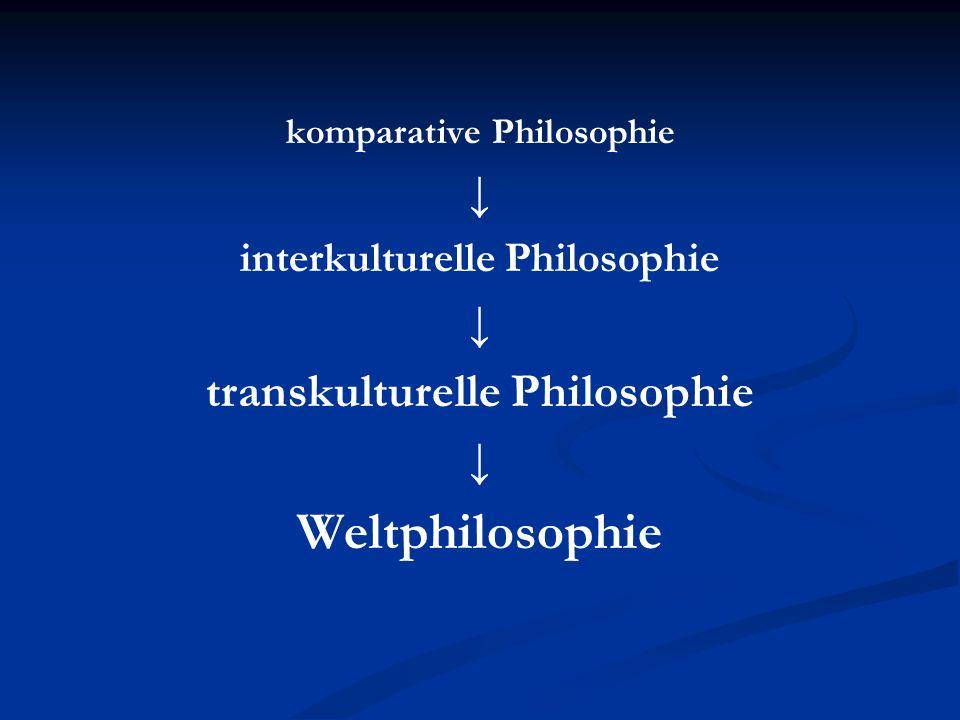 komparative Philosophie interkulturelle Philosophie transkulturelle Philosophie Weltphilosophie