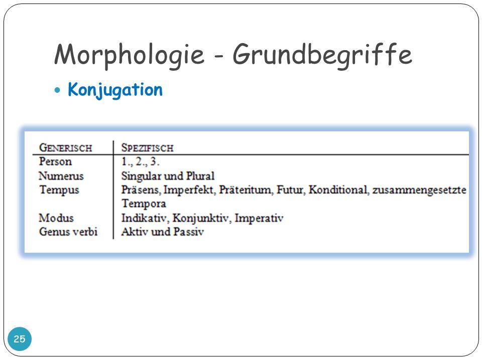 Morphologie - Grundbegriffe 25 Konjugation
