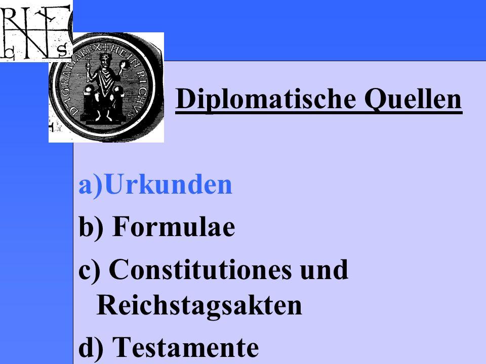 Kleine Urkundenkunde 2 Erschließungsformen I.BASICS II.