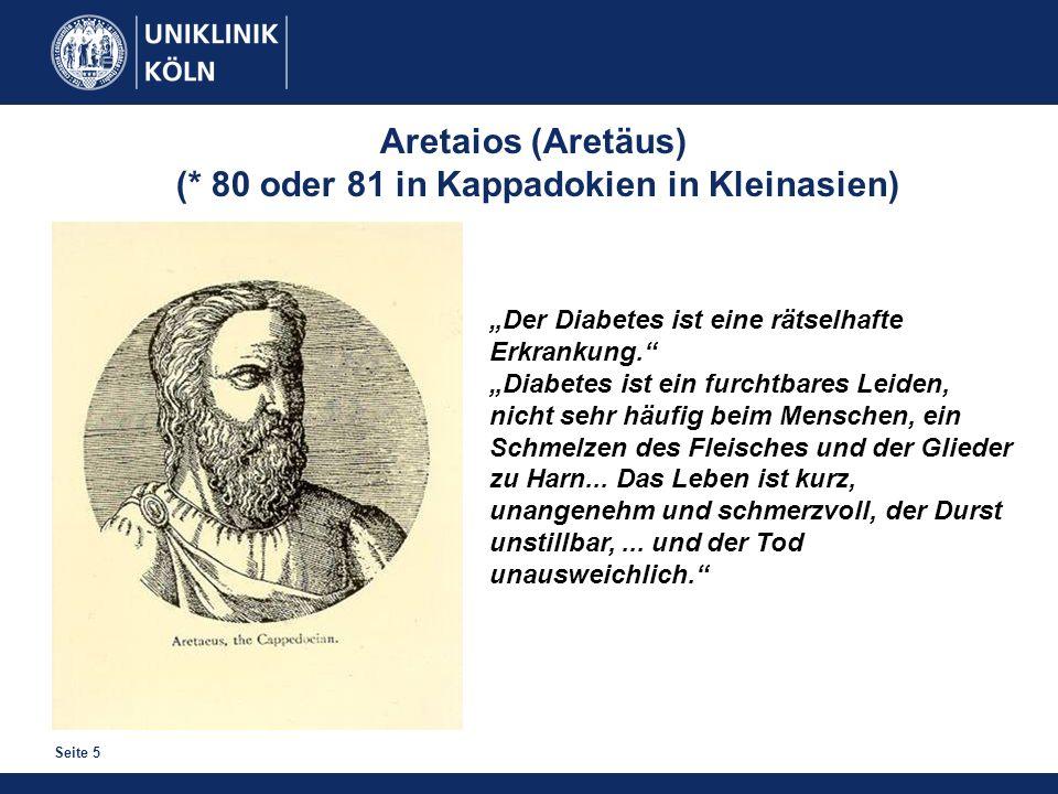 Seite 5 Der Diabetes ist eine rätselhafte Erkrankung. Diabetes ist ein furchtbares Leiden, nicht sehr häufig beim Menschen, ein Schmelzen des Fleische