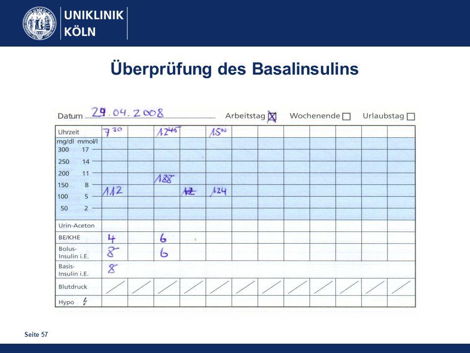 Seite 57 Überprüfung des Basalinsulins