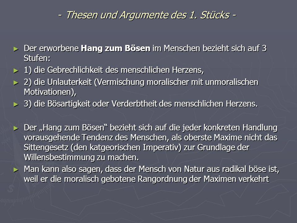- Thesen und Argumente des 1.