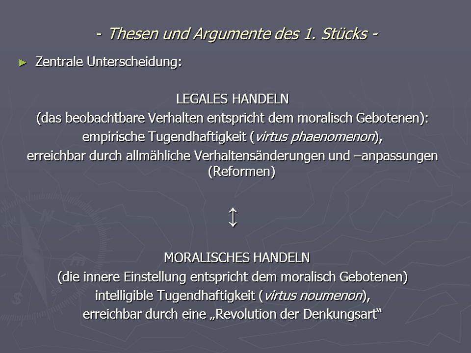 Zentrale Thesen und Argumente des 2.