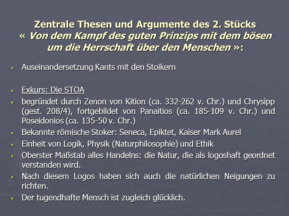 - Thesen und Argumente des 2.