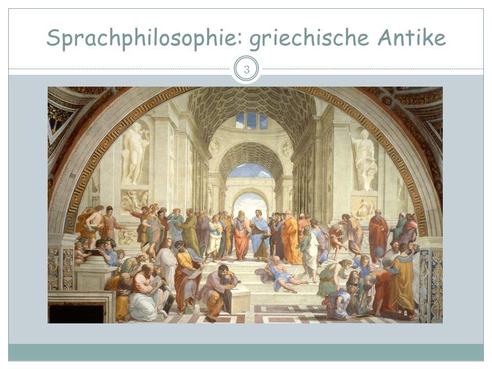 Sprachphilosophie Die griechische Antike Heraklit (ca.