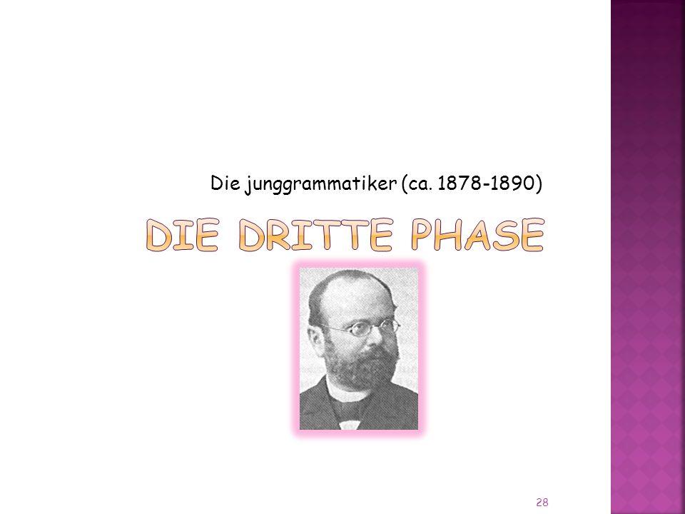 Die junggrammatiker (ca. 1878-1890) 28