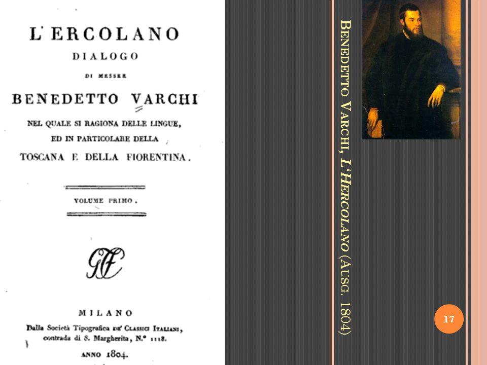 B ENEDETTO V ARCHI, LH ERCOLANO (A USG. 1804) 17