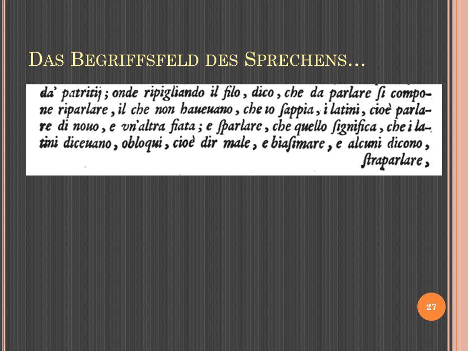 D AS B EGRIFFSFELD DES S PRECHENS … 27