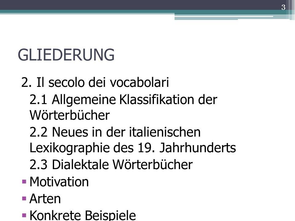 GLIEDERUNG 2.