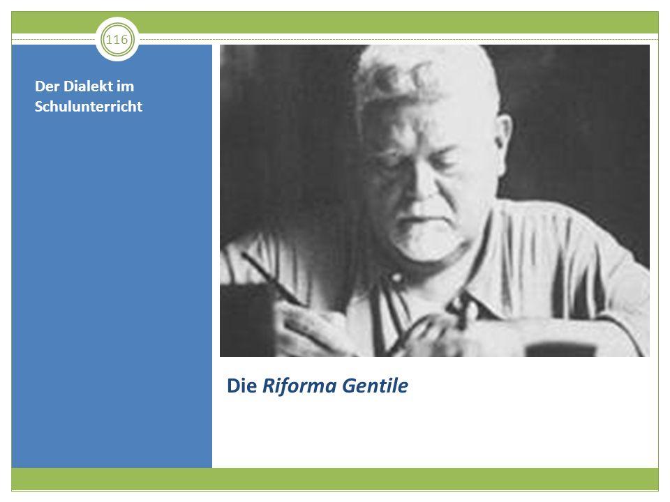 Die Riforma Gentile Der Dialekt im Schulunterricht 116