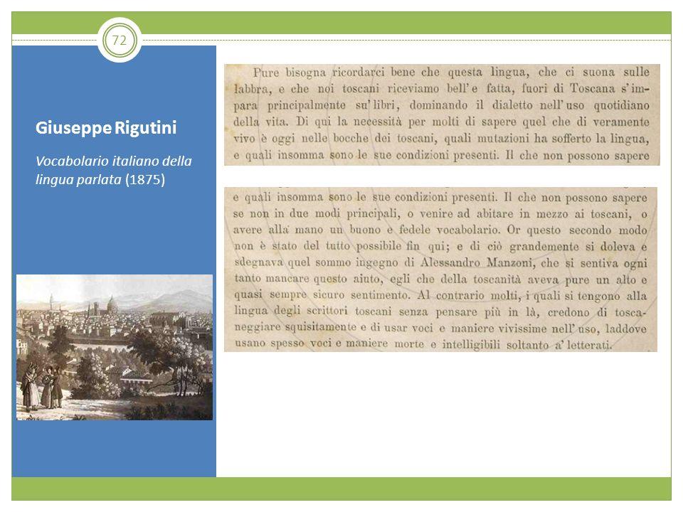 Giuseppe Rigutini Vocabolario italiano della lingua parlata (1875) 72