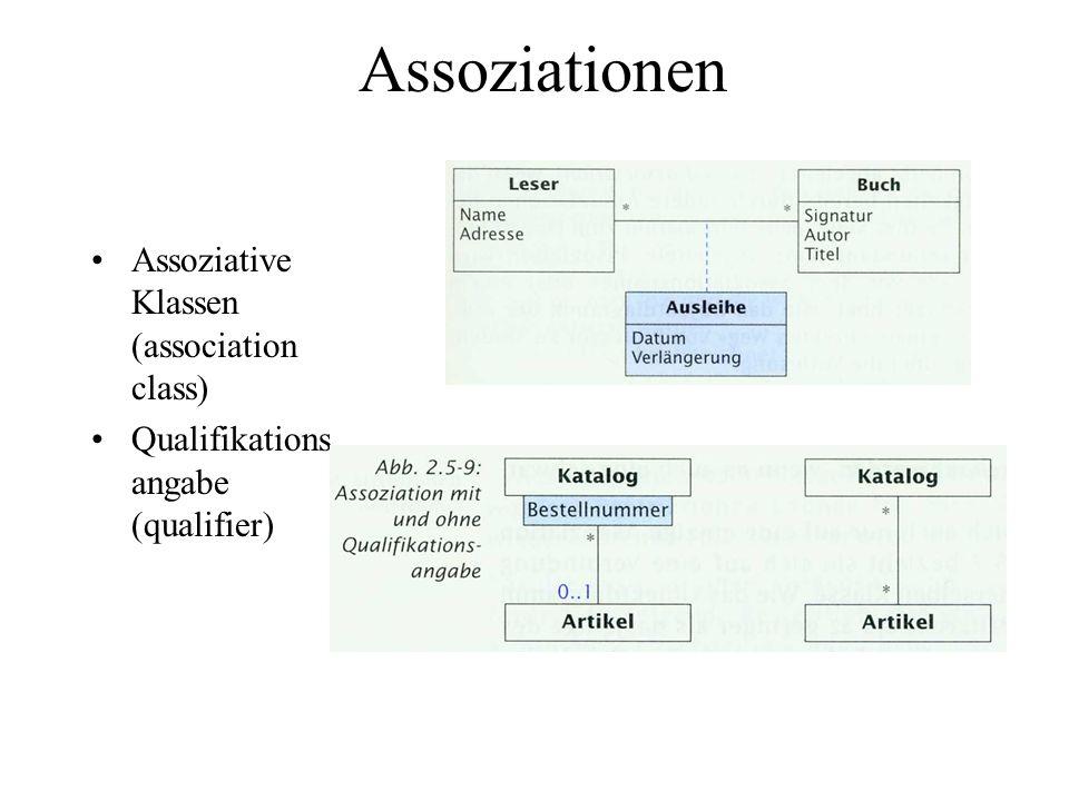 Assoziationen Abgeleitete Assoziation (derived association)