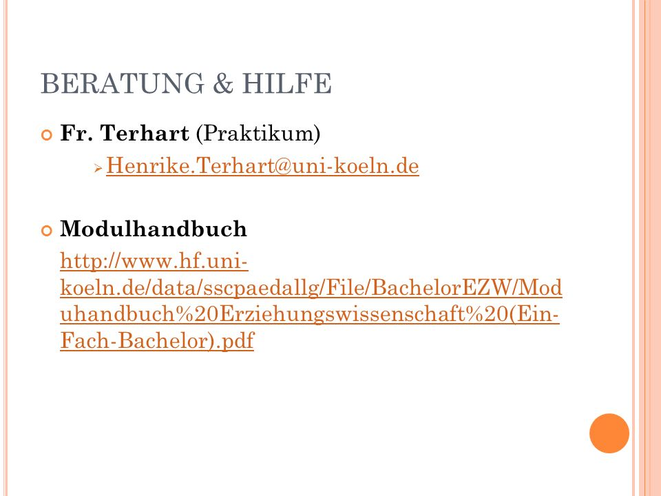 BERATUNG & HILFE Fr.