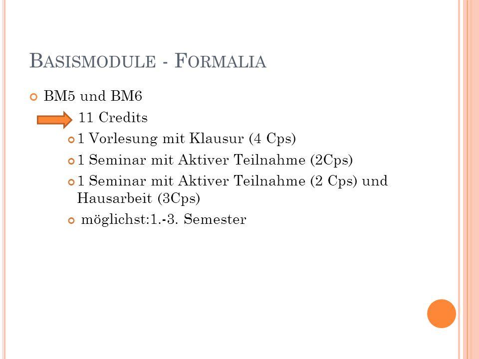 AUFBAUMODULE AM5b Organisationspsychologie 11 Credits 1 Vorlesung mit Klausur (4 Cps) 1 Seminar mit Aktiver Teilnahme (2 Cps) 1 Seminar mit Aktiver Teilnahme (2 Cps) und Hausarbeit (3 Cps) möglichst: 4.-6.