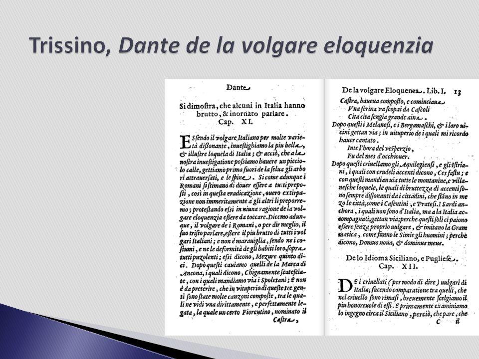 1525 Lodovico Martelli (1503-1531) betont in seiner Risposta alla Epistola del Trissino delle lettere nuovamente aggionte alla lingua volgar fiorentina den toskanischen bzw.