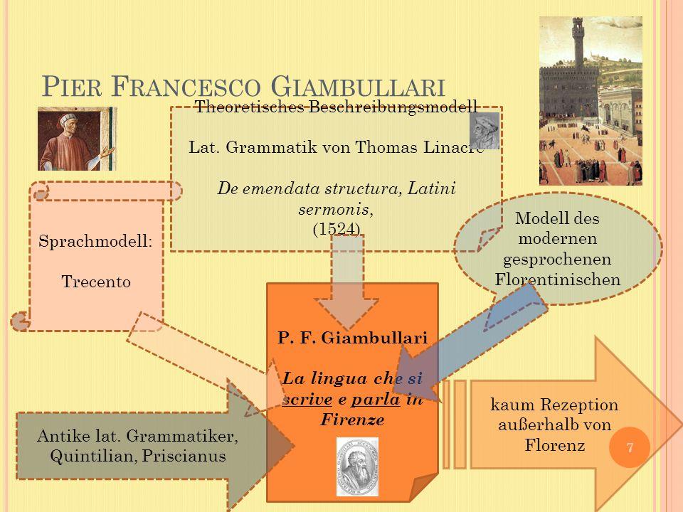 P IER F RANCESCO G IAMBULLARI 7 P. F.