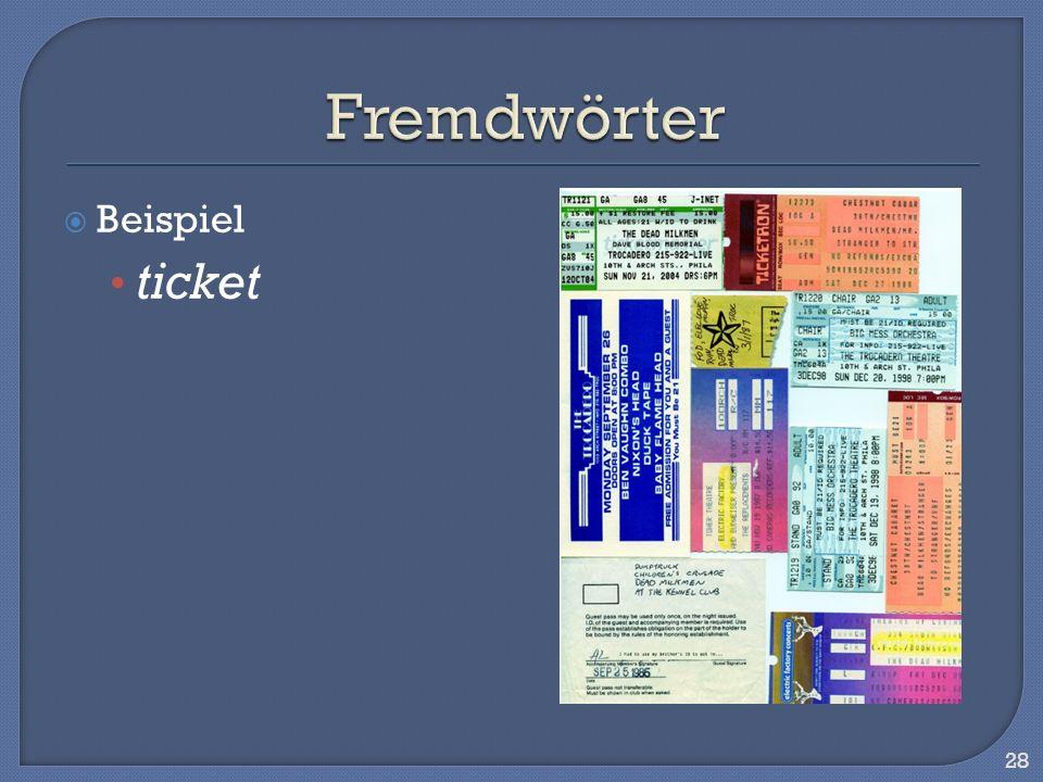 Beispiel ticket 28