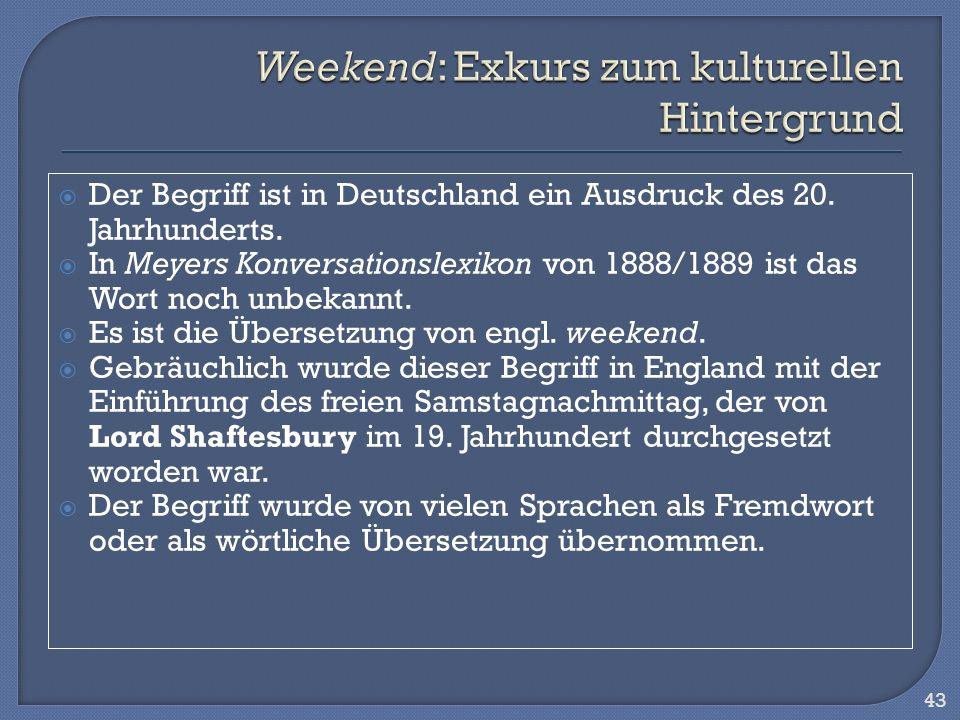 Der Begriff ist in Deutschland ein Ausdruck des 20. Jahrhunderts. In Meyers Konversationslexikon von 1888/1889 ist das Wort noch unbekannt. Es ist die