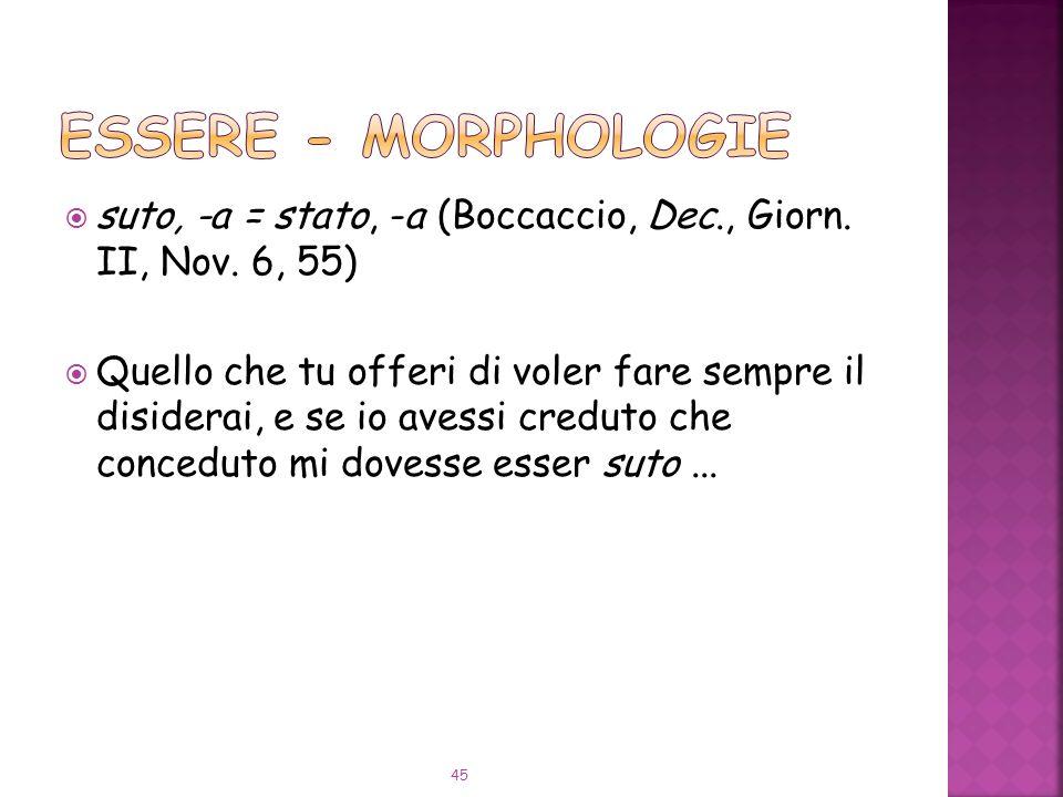 suto, -a = stato, -a (Boccaccio, Dec., Giorn.II, Nov.