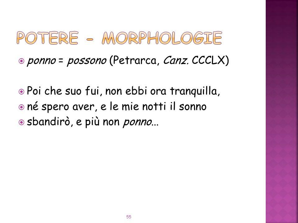 ponno = possono (Petrarca, Canz.