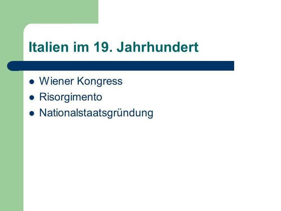 Wiener Kongress 1814/15 Restauration Wiederherstellung politischer Ordnung Grundlage: Friede von Aachen 1748 Rückkehr des dynast.