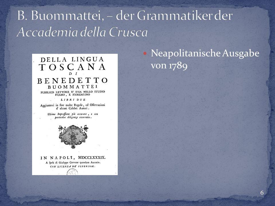 6 Neapolitanische Ausgabe von 1789