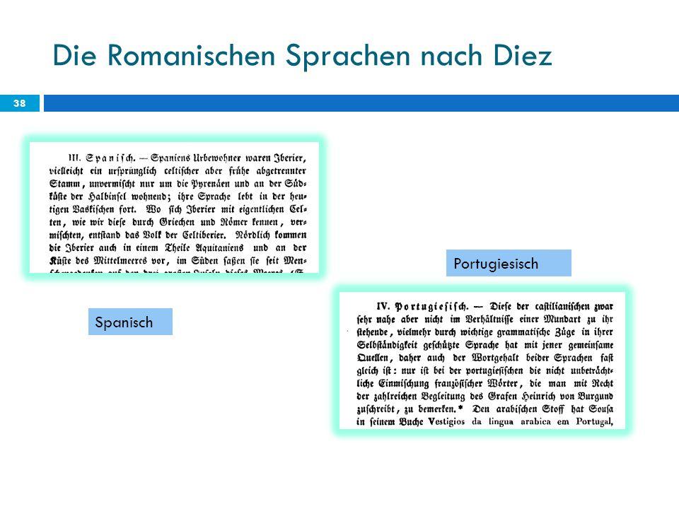 Die Romanischen Sprachen nach Diez 38 Spanisch Portugiesisch
