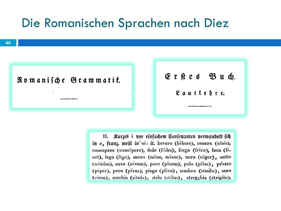 Die Romanischen Sprachen nach Diez 40