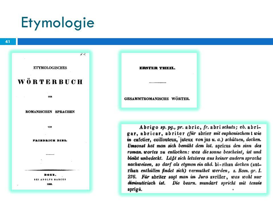 Etymologie 41