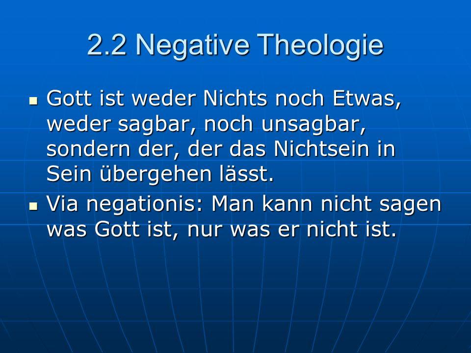 2.3 Trinität Lateinische Trinität Soziale Trinität Der eine, sich offenbarende Gott Drei als gleich- ursprünglich gedachte Personen