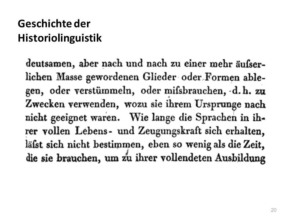 Geschichte der Historiolinguistik 20