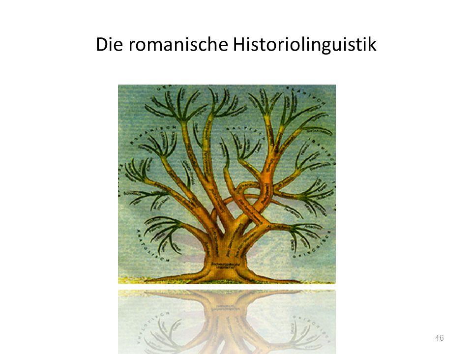 Die romanische Historiolinguistik 46