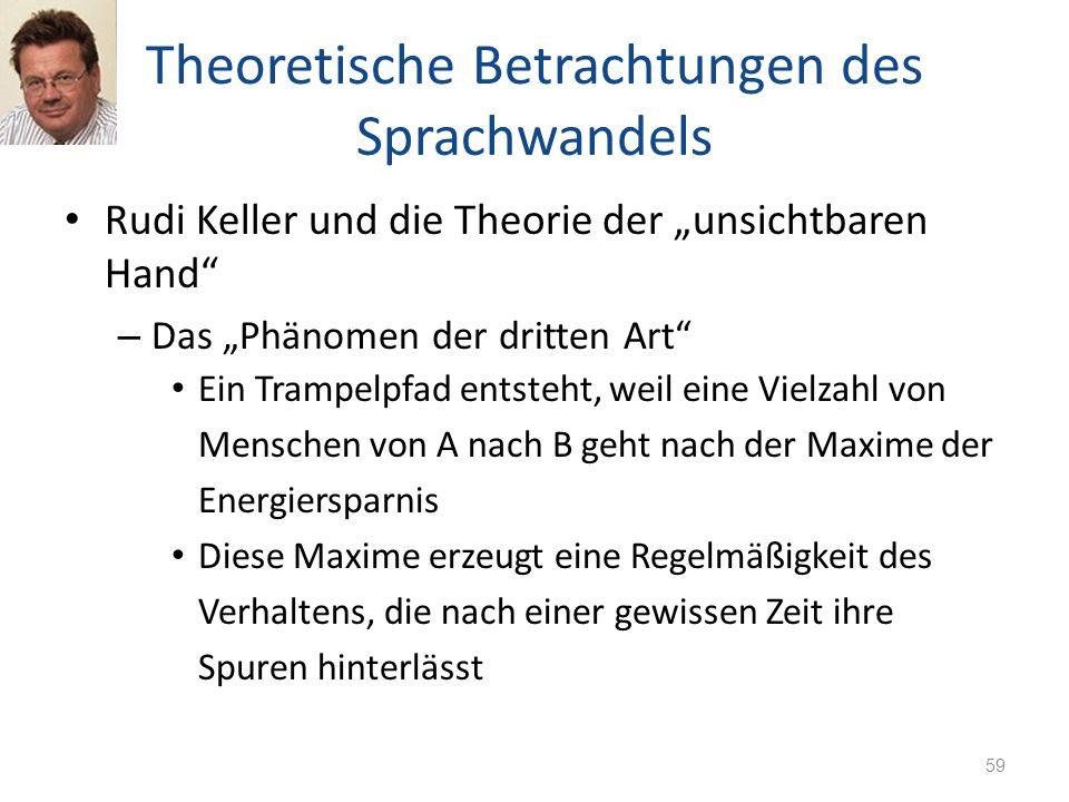 Theoretische Betrachtungen des Sprachwandels Rudi Keller und die Theorie der unsichtbaren Hand – Das Phänomen der dritten Art Ein Trampelpfad entsteht