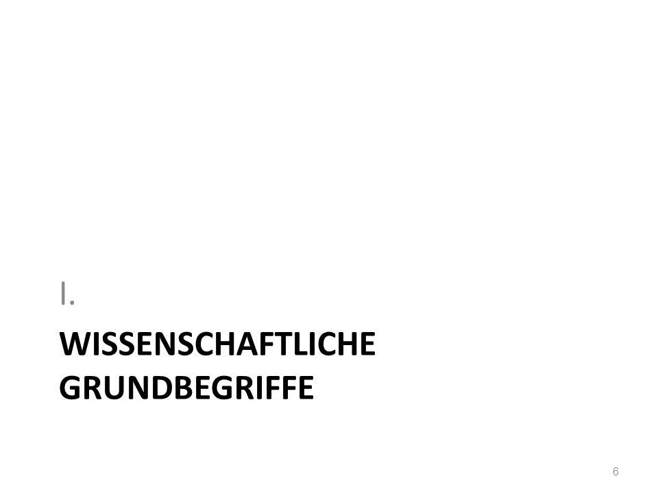 WISSENSCHAFTLICHE GRUNDBEGRIFFE I. 6