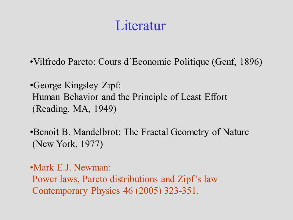 Häufigkeitsverteilungen I M.E.J. Newman (2005) KörpergrößeGeschwindigkeit von Autos