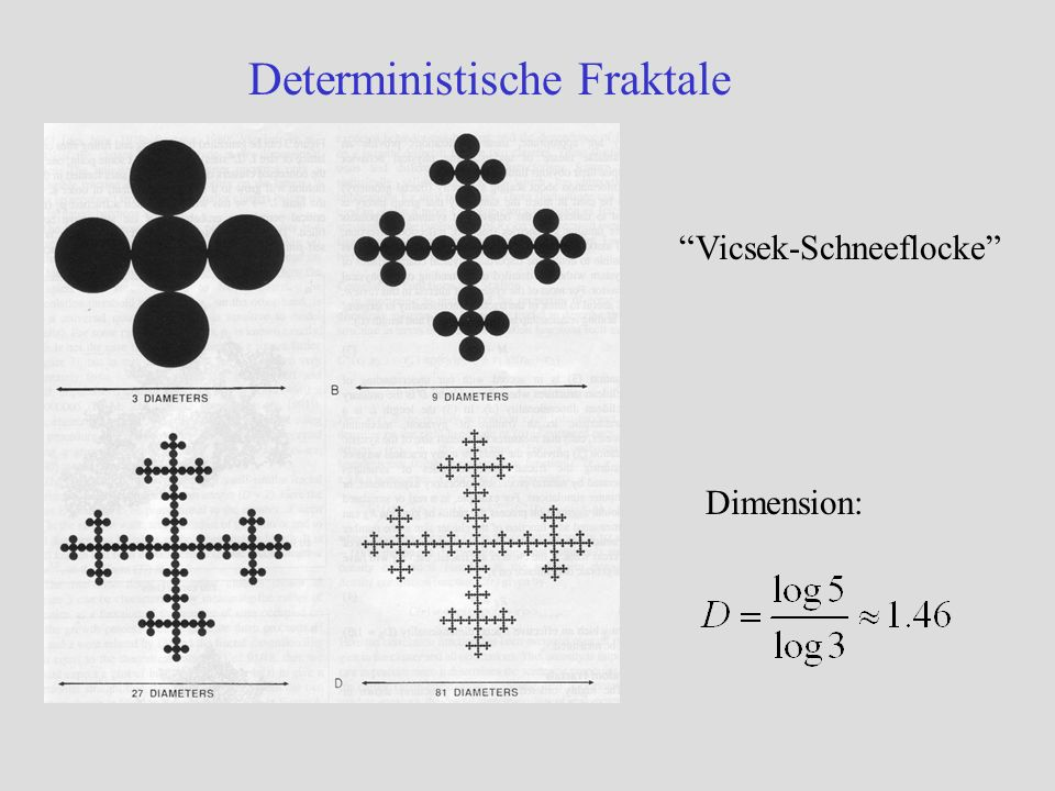 Deterministische Fraktale Dimension: Vicsek-Schneeflocke