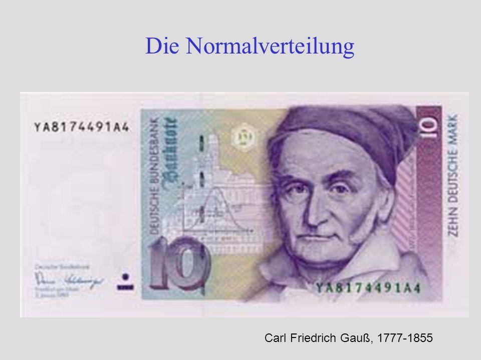 Die Normalverteilung Carl Friedrich Gauß, 1777-1855