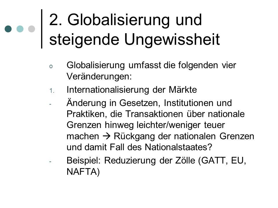 Globalisierung und steigende Ungewissheit 2.