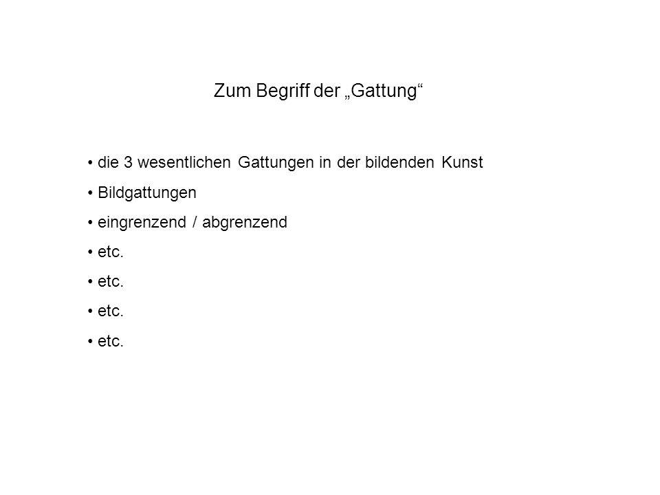 Gattung Begriff kommt im Deutschen erstmals im 15.