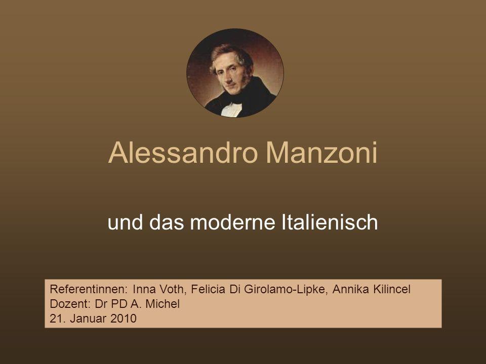 Manzoni und seine Kollegen veröffentlichen laufend neue Berichte und Abhandlungen über die zeitgenöss.