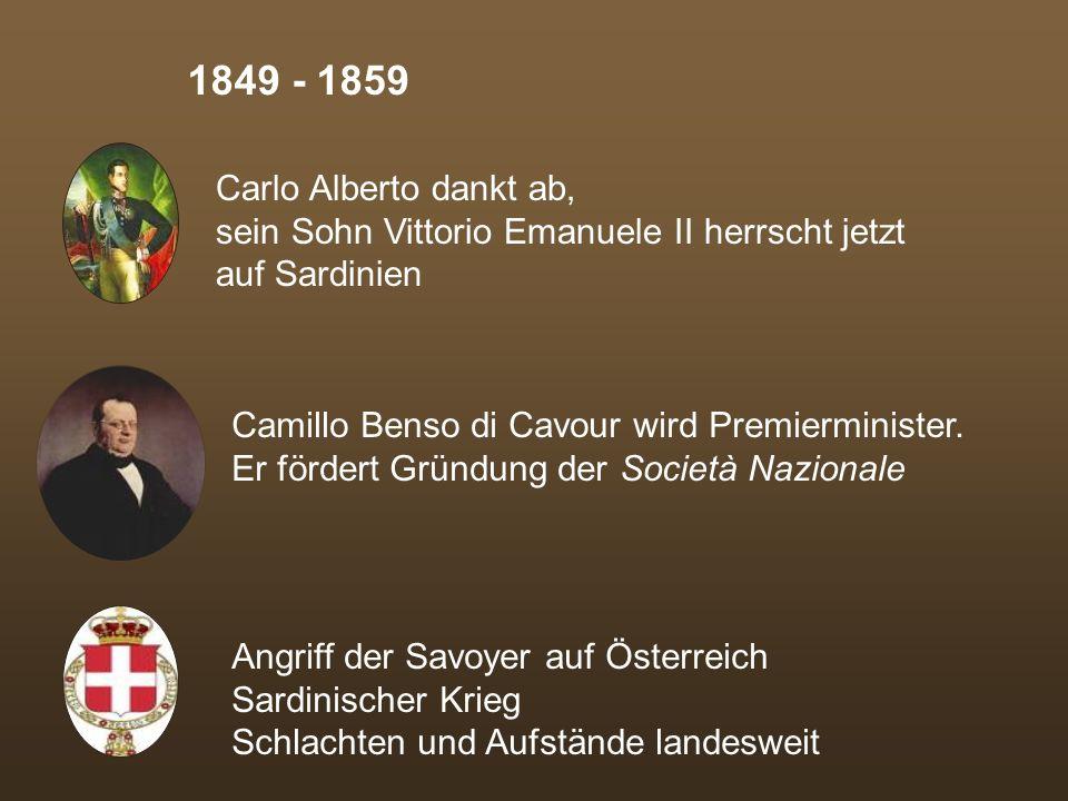 Nach kurzer Zeit jedoch...... werden die Aufstände erstickt... wird die Herrschaft Österreichs restauriert... wird Papst Pius´ IX Herrschaftsanspruch
