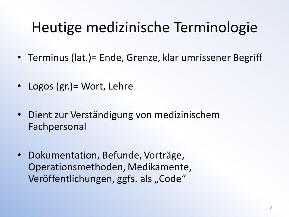 Medizinische Terminologie Latein Ca.