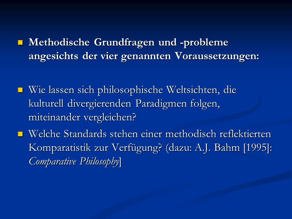 Methodische Grundfragen und -probleme angesichts der vier genannten Voraussetzungen: Methodische Grundfragen und -probleme angesichts der vier genannt