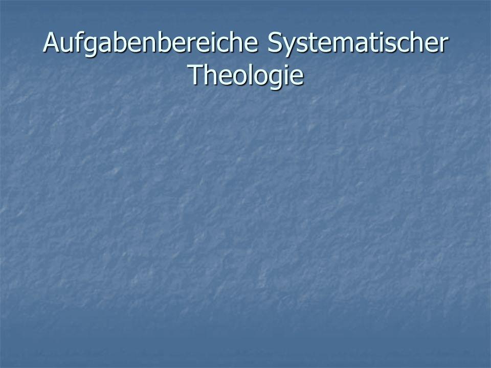 Fundamentaltheologie Fundamentaltheologie