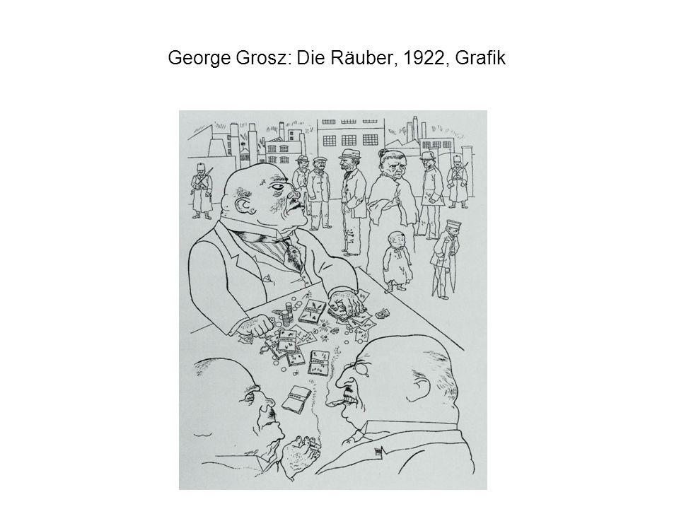 George Grosz: Die Räuber, 1922, Grafik